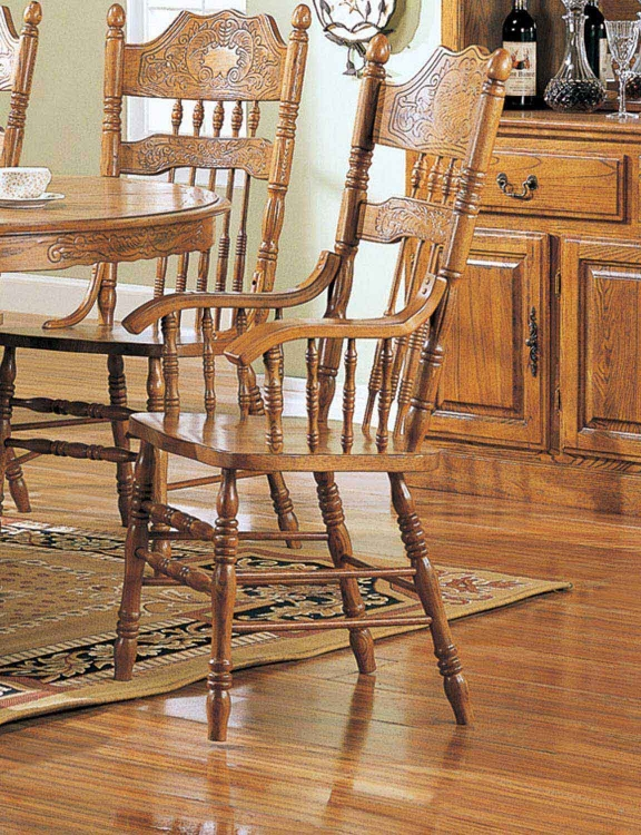Mackinaw 5477AN Arm Chair - Warm Oak - Coaster