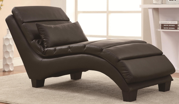550005 Chaise - Dark Brown