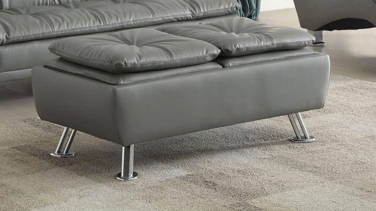 Dilleston Storage Ottoman - Grey
