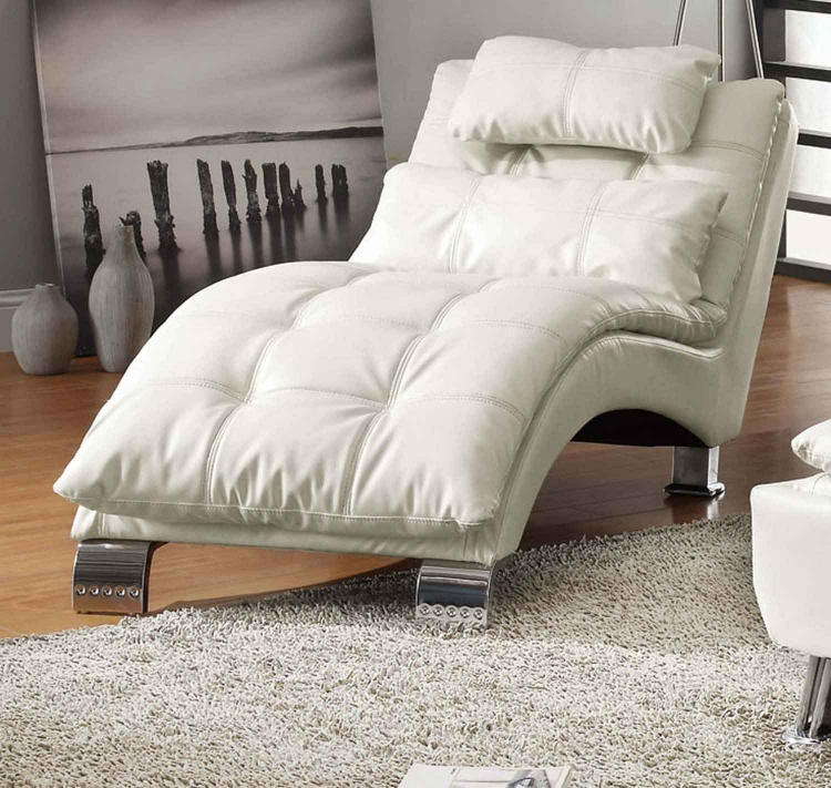 300291 Chaise - White - Coaster