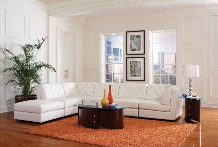 Quinn Living Room Set - White