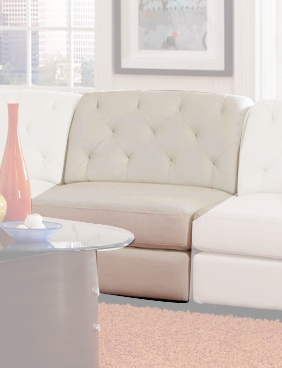 Quinn Armless Chair - White