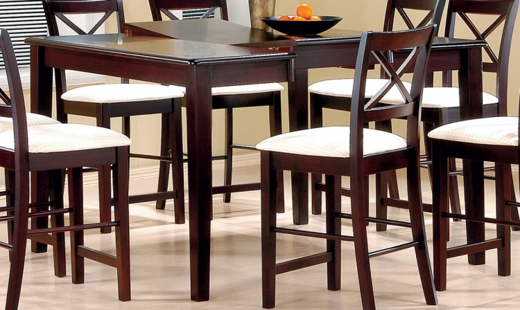 Pryore Counter Height Table - Cappuccino