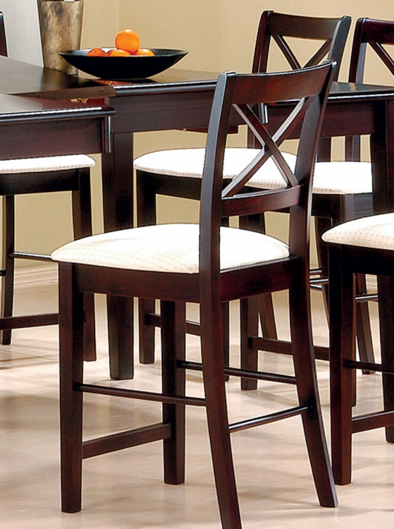 Pryore Counter Height Stool - Cappuccino
