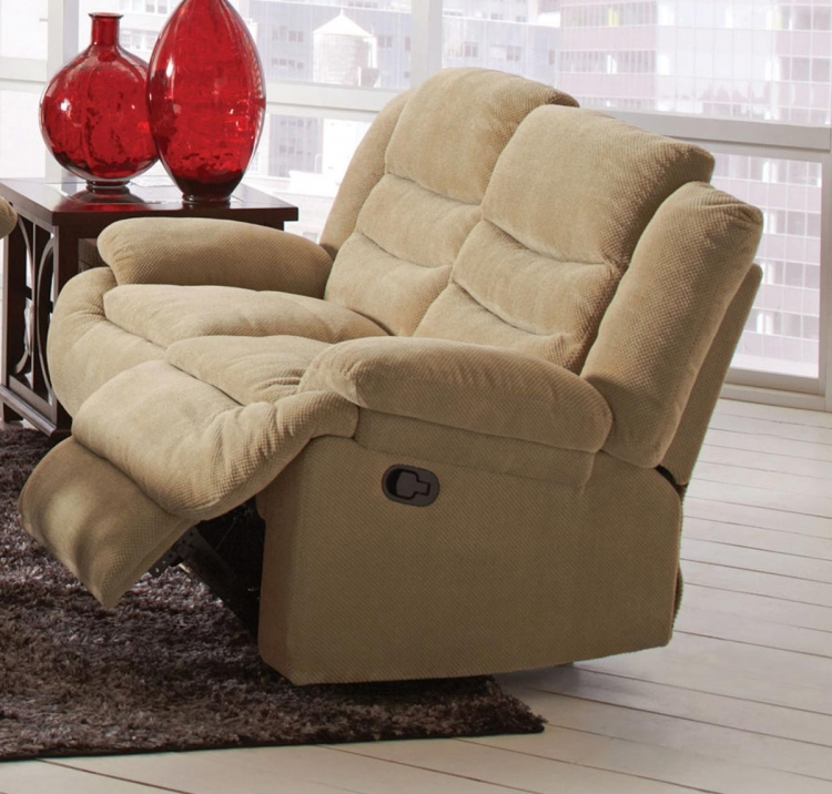 Novak Motion Love Seat - Sand