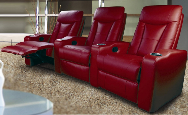 Pavillion Home Theater Seating Set - Red - Coaster