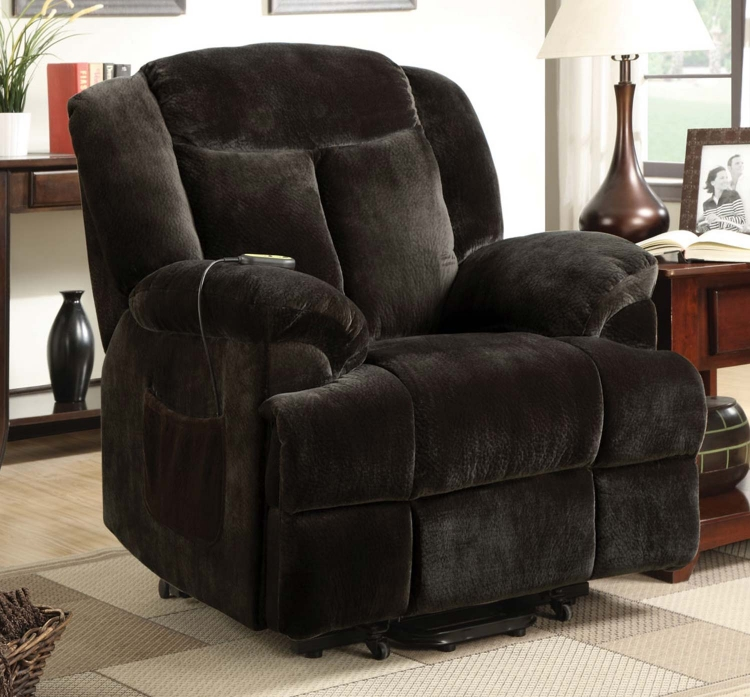 600173 Power Lift Recliner - Chocolate