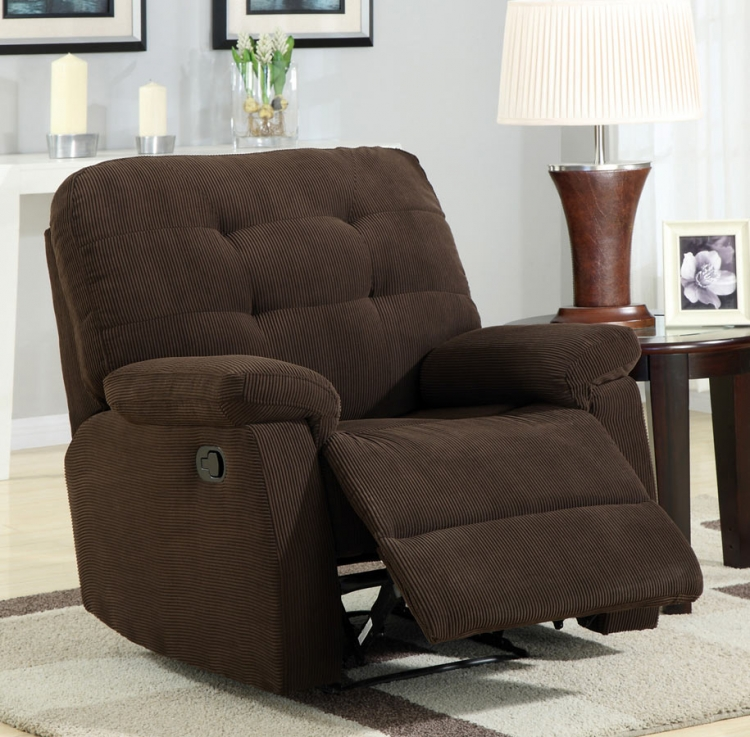 60019X Recliner - Chocolate - Coaster