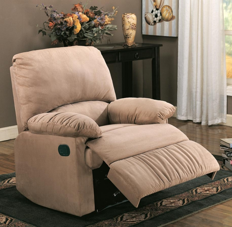 60026X Glider Recliner - Light Brown - Coaster