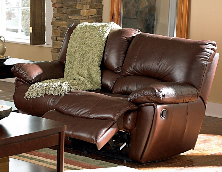 Clifford Power Reclining Love Seat - Dark Brown