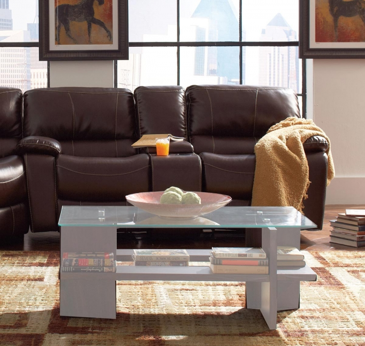 Alan Motion Gliding Love Seat - Dark Brown