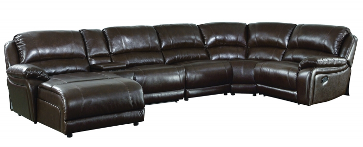 Mackenzie Motion Sectional Sofa - Chestnut