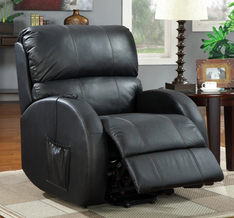 600416 Power Lift Recliner - Black - Coaster