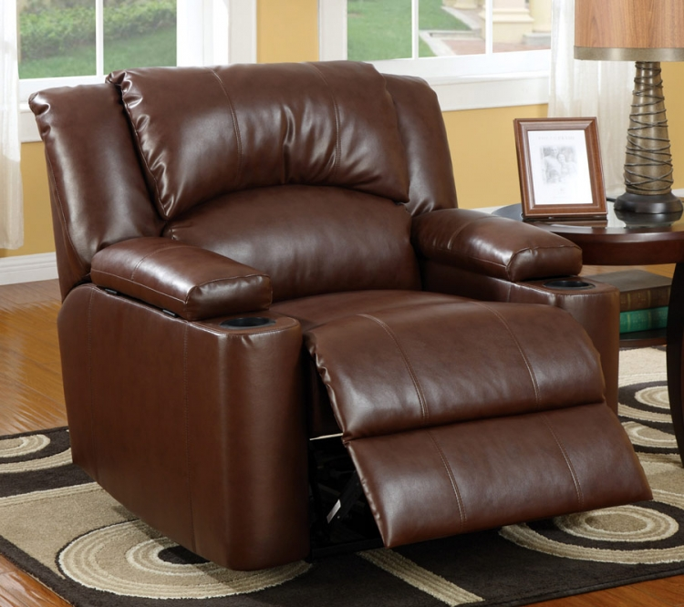 600418 Power Recliner - Brown - Coaster