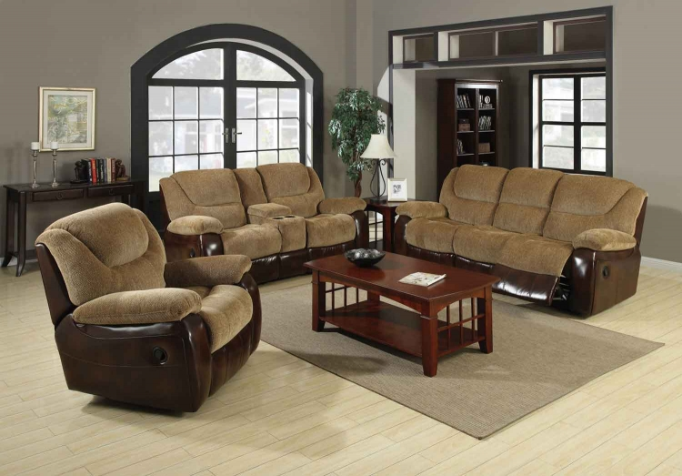 Malena Motion Living Room Set - Tan - Coaster