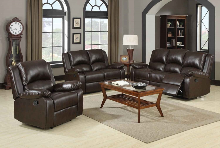 Boston Motion Living Room Set - Brown - Coaster