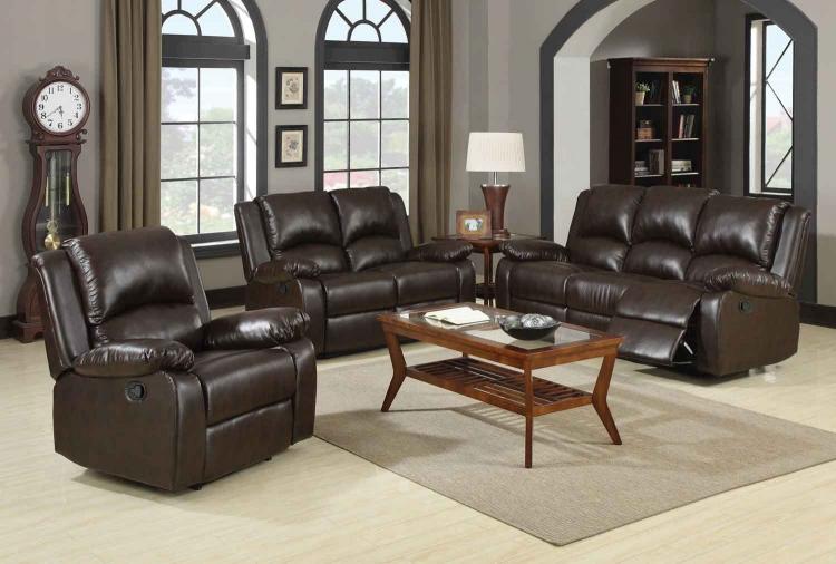 Boston Motion Living Room Set - Brown