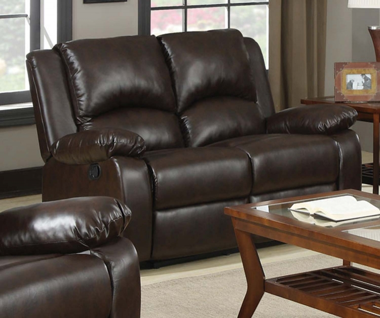Boston Double Reclining Love Seat - Brown