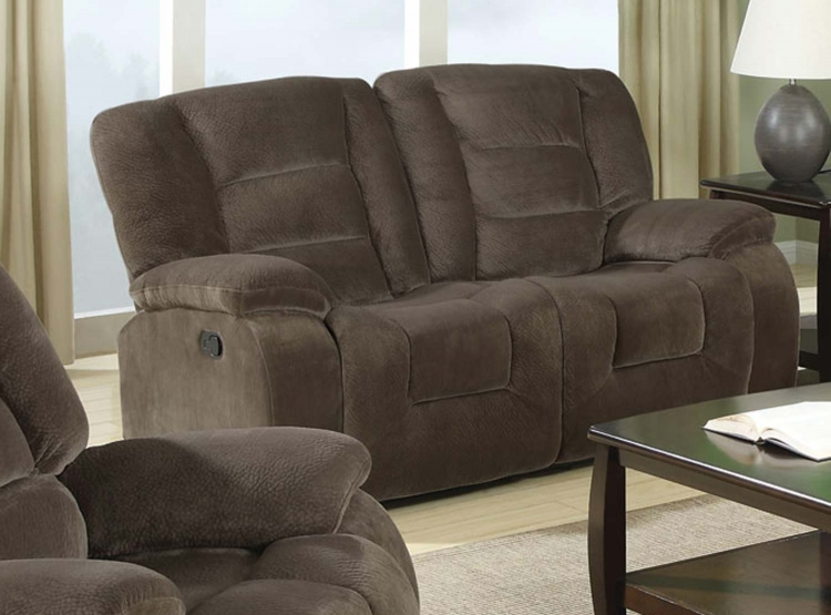 Charlie Double Reclining Love Seat - Brown Sabe
