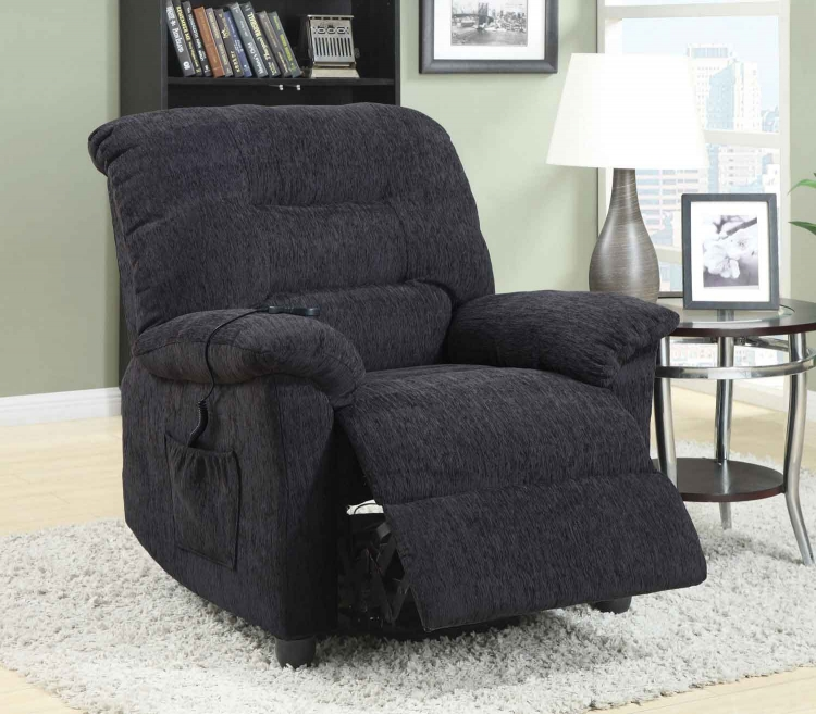 601015 Power Lift Recliner - Dark Grey