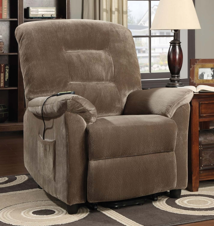 601025 Power Lift Recliner - Brown