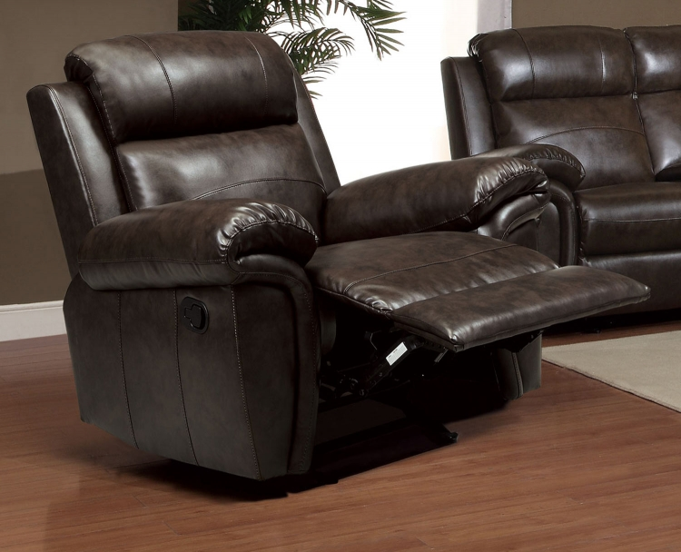 Gideon Glider Recliner - Brown