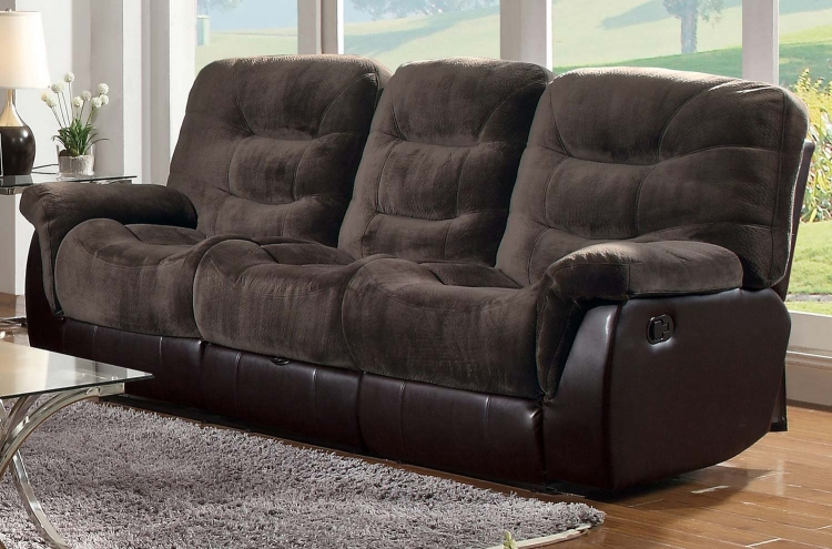 Elaina Motion Sofa - Chocolate