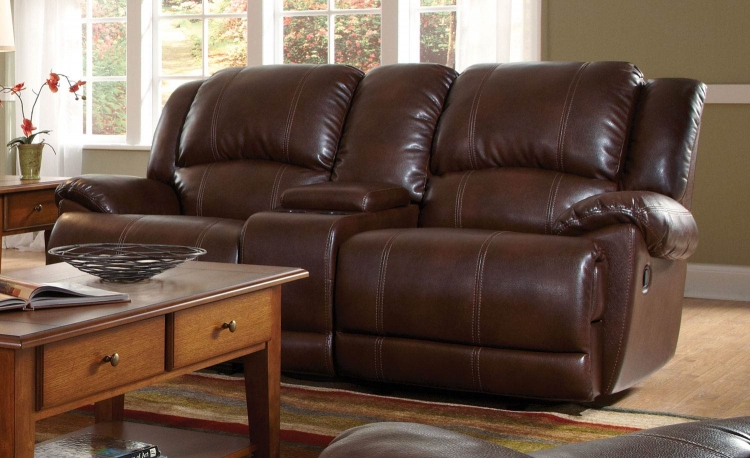 Mackenzie Motion Love Seat - Brown