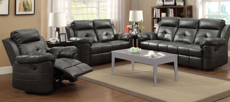 Keating Motion Sofa Set- Charcoal