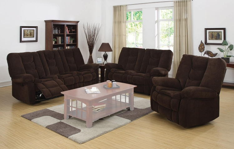 Gail Motion Sofa Set - Chocolate