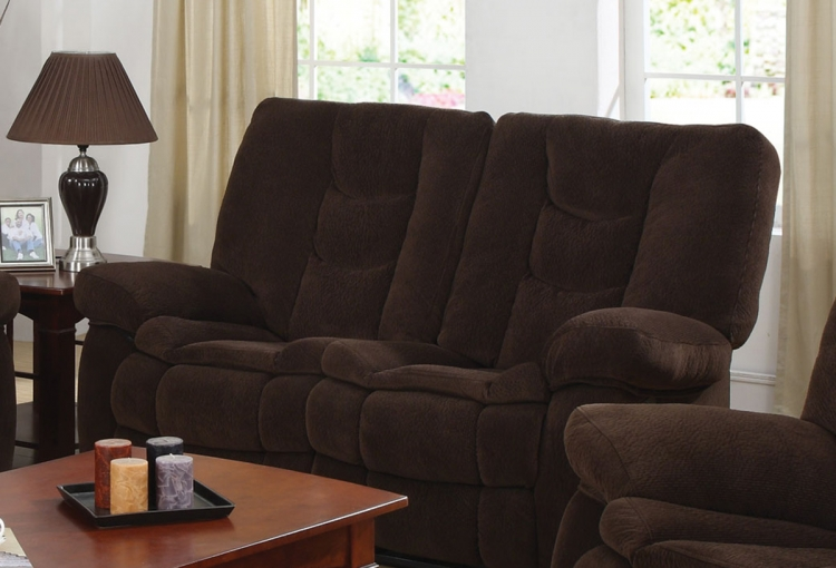 Gail Motion Love Seat - Chocolate