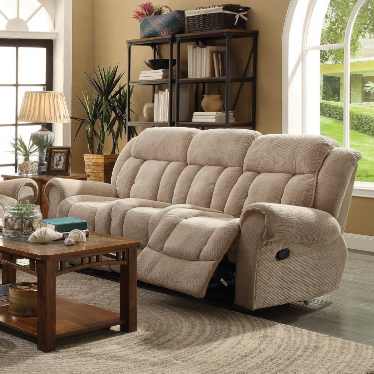 Reige Reclining Sofa - Taupe