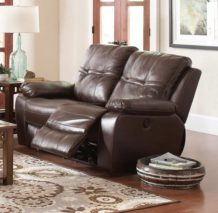 Holloway Motion Love Seat - Dark Brown