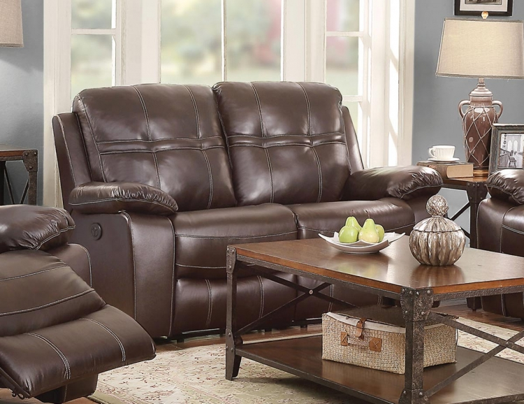Holloway Motion Power Love Seat - Dark Brown