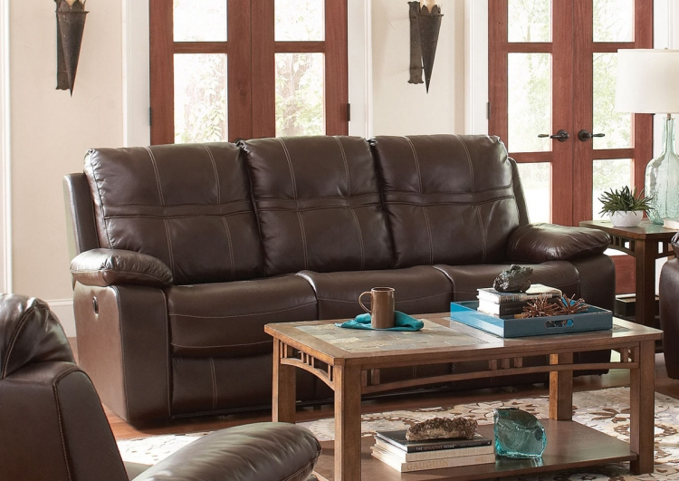 Holloway Motion Sofa- Dark Brown
