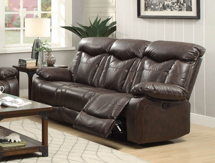 Zimmerman Motion Power Sofa - Dark Brown