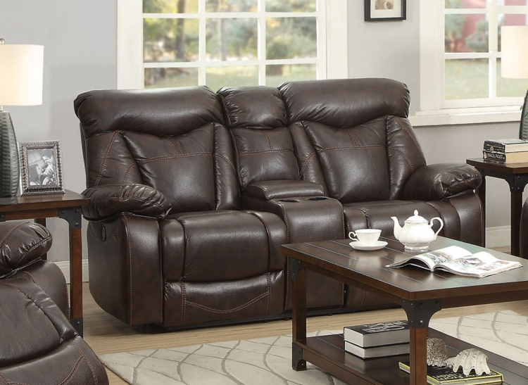 Zimmerman Motion Power Love Seat - Dark Brown