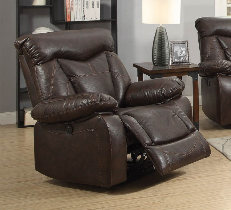 Zimmerman Motion Power Recliner - Dark Brown
