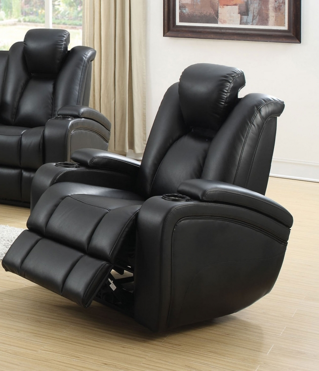 Delange Power Recliner - Black