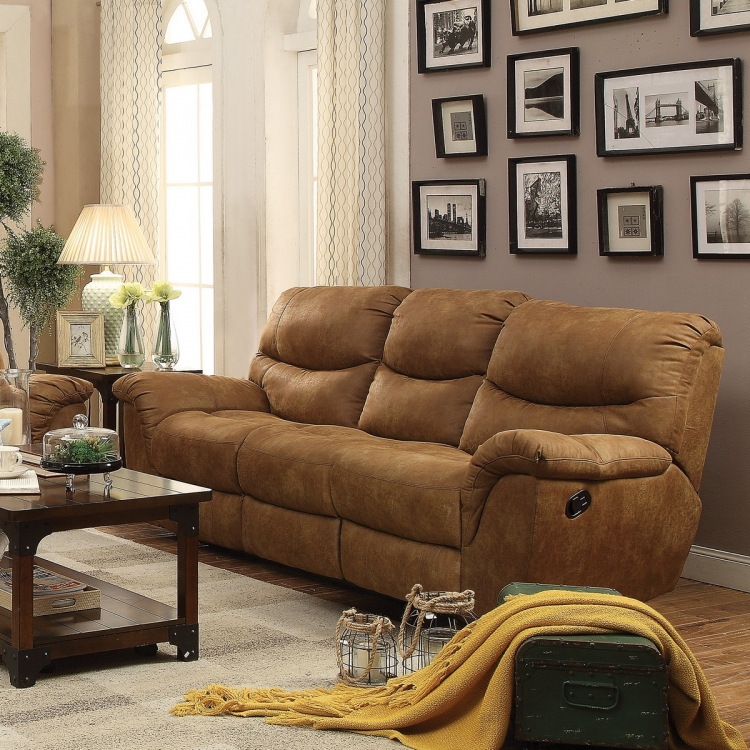 Hancox Reclining Sofa - Light Brown