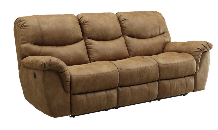 Hancox Power Reclining Sofa - Light Brown
