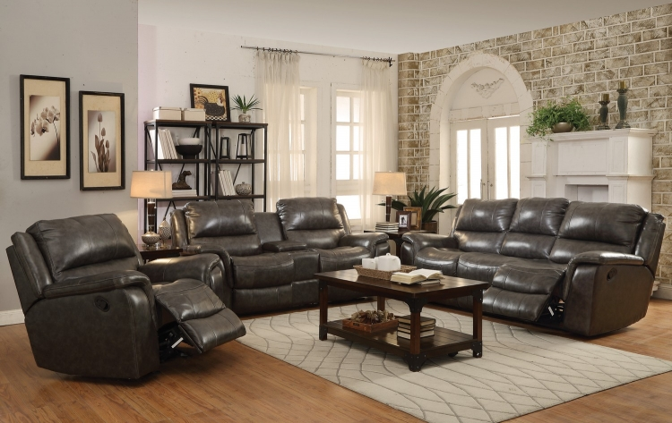 Wingfield Sofa Set - Two Tone Charcoal