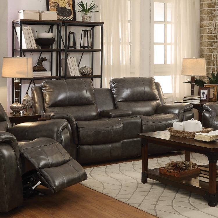 Wingfield Love Seat - Two Tone Charcoal