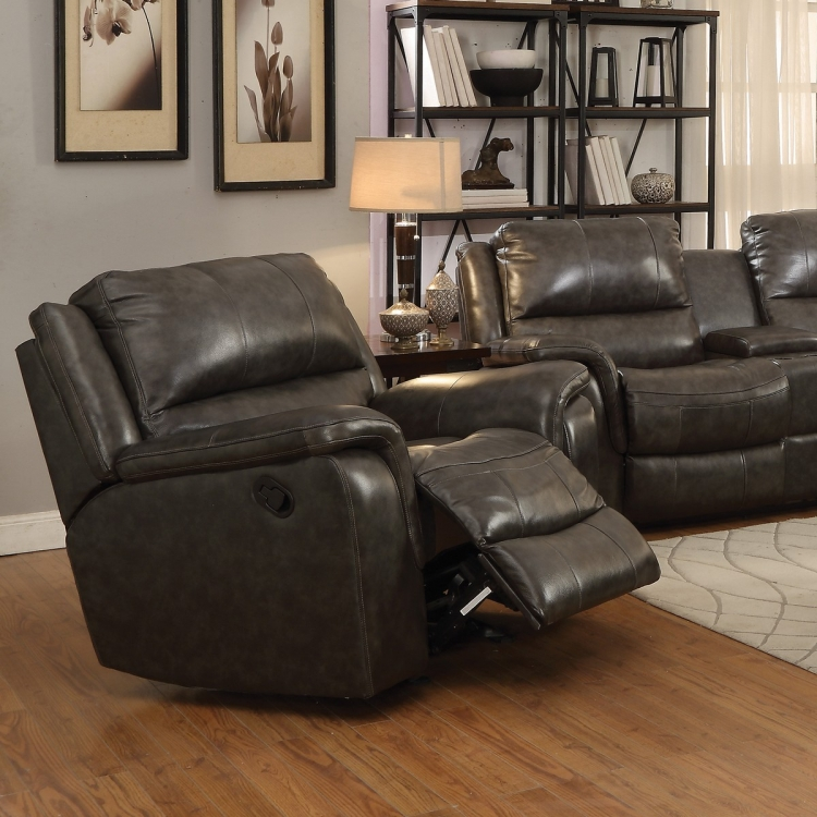 Wingfield Recliner - Two Tone Charcoal