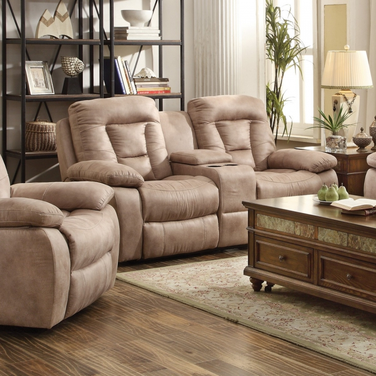 Evensky Power Reclining Love Seat - Bone
