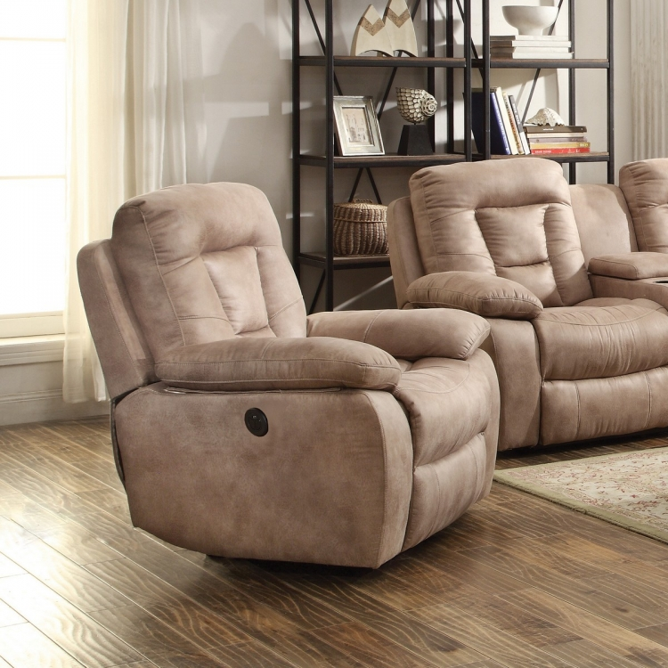Evensky Power Recliner - Bone
