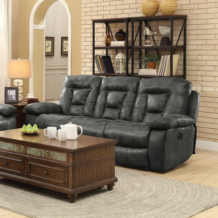 Evensky Power Reclining Sofa - Charcoal