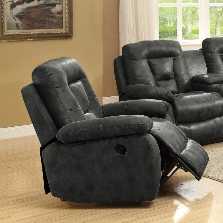 Evensky Glider Recliner - Charcoal
