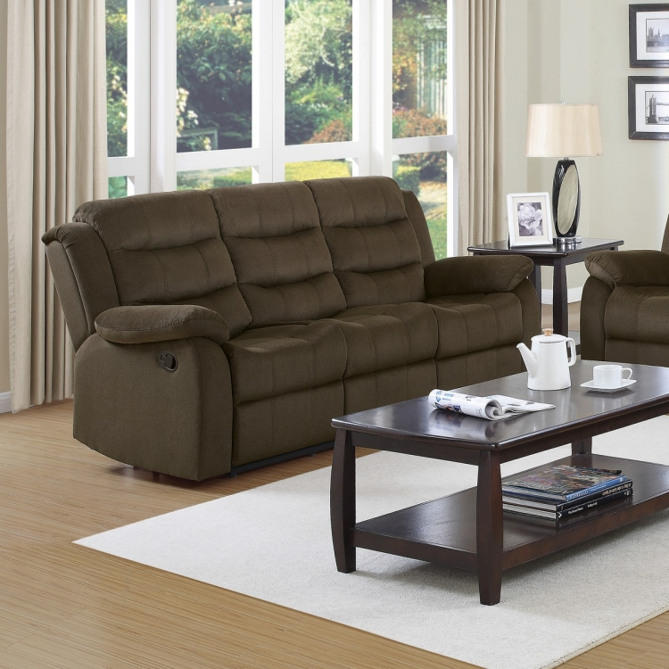 Rodman Reclining Sofa - Two-tone Chocolate