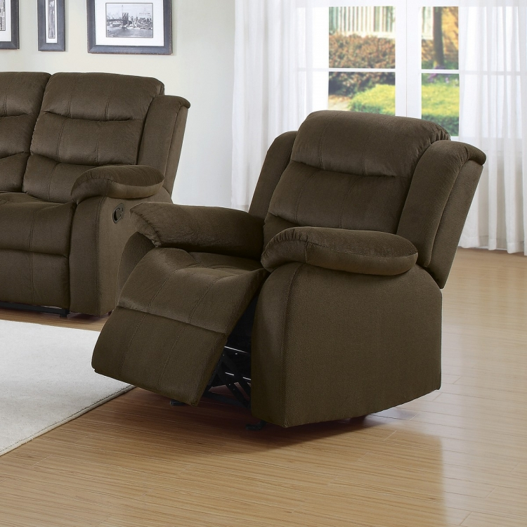Rodman Glider Recliner - Two-tone Chocolate